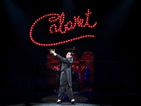 "Brandon Uranowitz as the Emcee in ""Cabaret,"" part of"