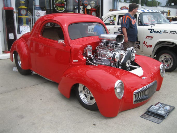 This red-hot 1941 Willys Pro Street hotrod, with body