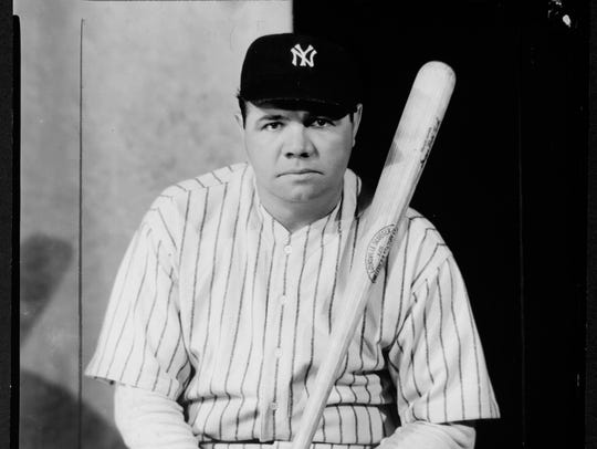 A 1945 photo of Babe Ruth taken by photographer Nickolas