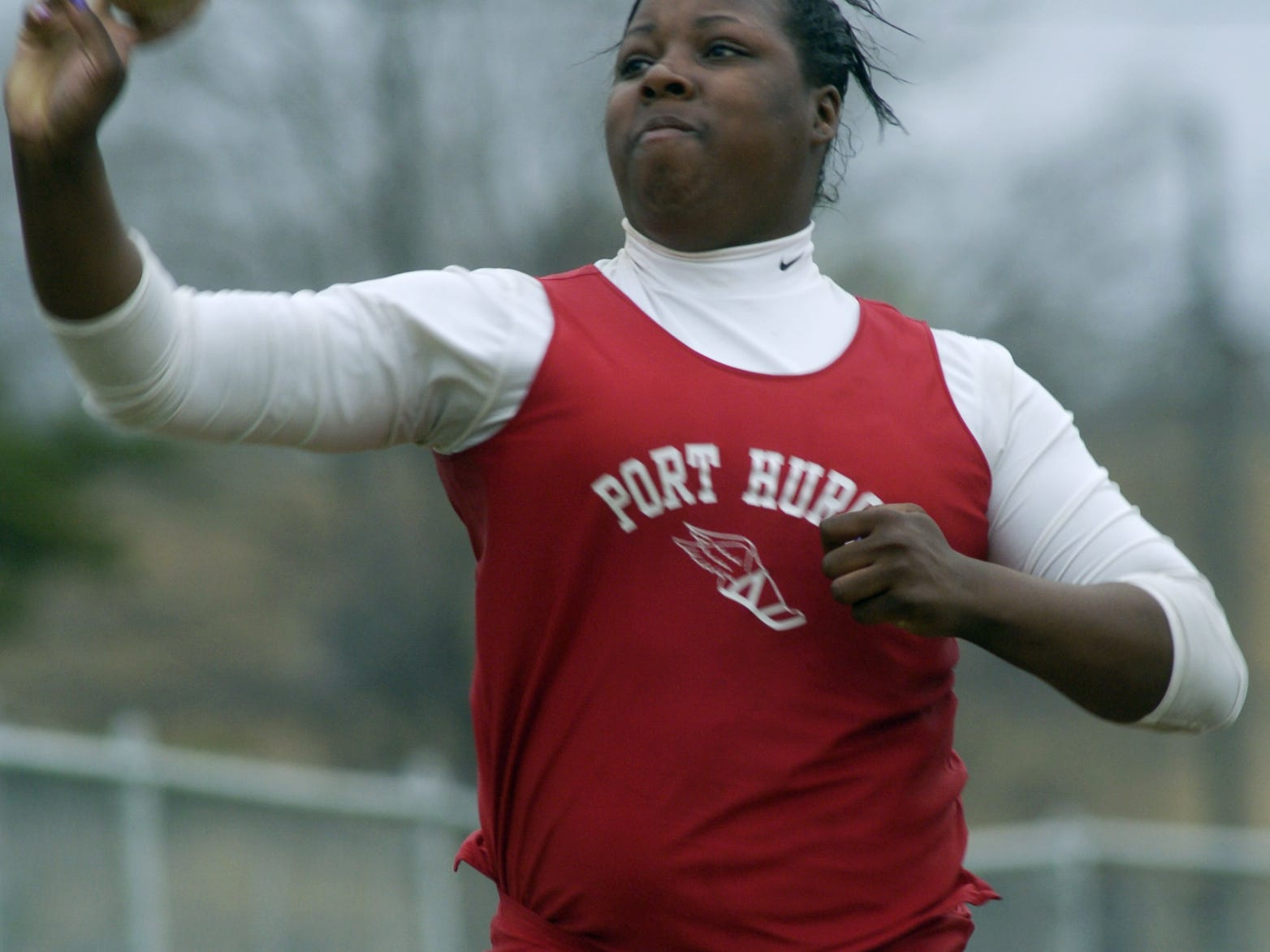 Port Huron's Norianna Brown is the Blue Water Meet of Champions record holder in the shot put and discus.