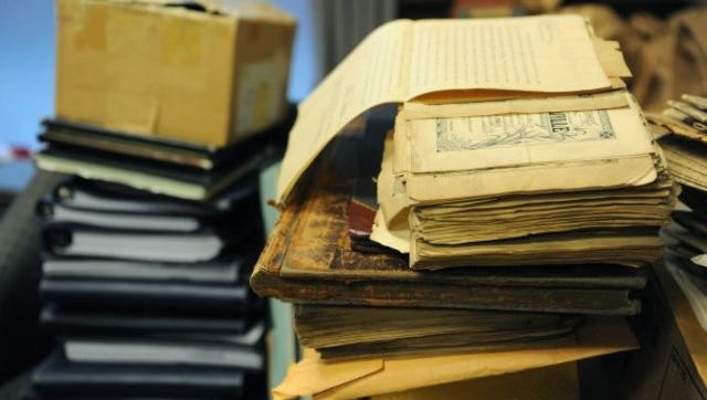 Stock photo of files and records.