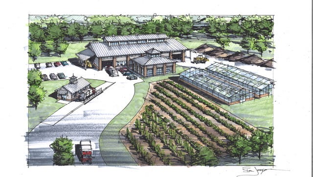 A rendering the proposed food waste facility.