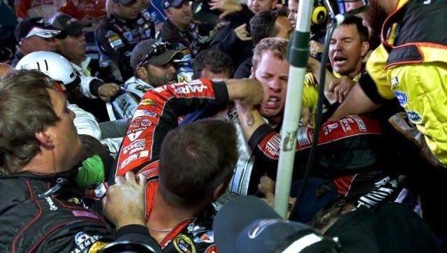 NASCAR crew members take out their aggression on Brad Keselowski