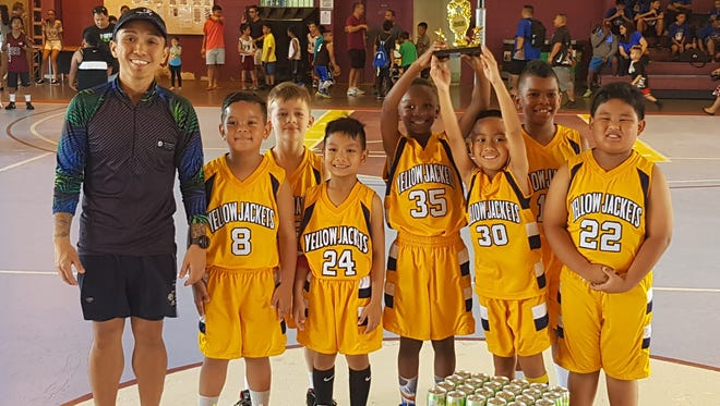 The 8-and-under  Yellow Jackets captured the title in the 8 and under division after a 32-30 victory against the Warriors in the 2017 Thanksgiving HoopFest presented by Aloha Maid and Bank of Guam Day of Champions. Yellow Jackets Sirron Chambers was named MVP and Warriors Tavaryies Henderson received the Bank of Guam top scorer award.