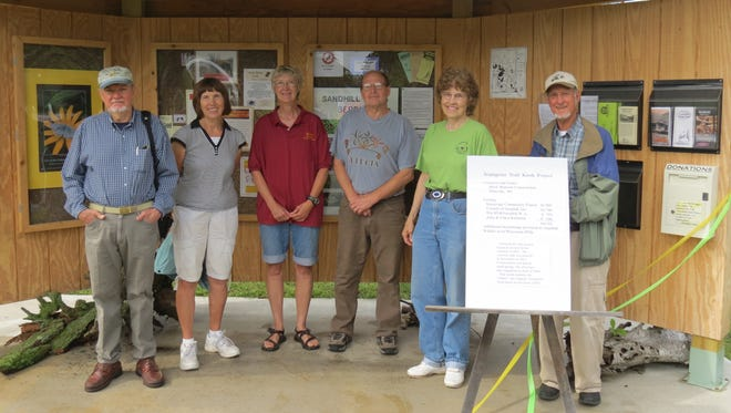 The board of directors of Friends of Sandhill Inc. include Richard Dubiel, from left, Nancy Peterson, Norma Donovan, Del King, Vicki Palen and John Kubisiak.