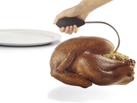 The OXO Poultry Lifter is one of many new gadgets on the market to help in the kitchen.