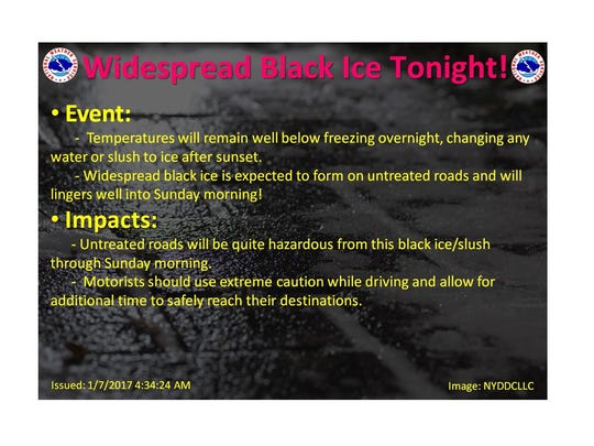 black ice warning