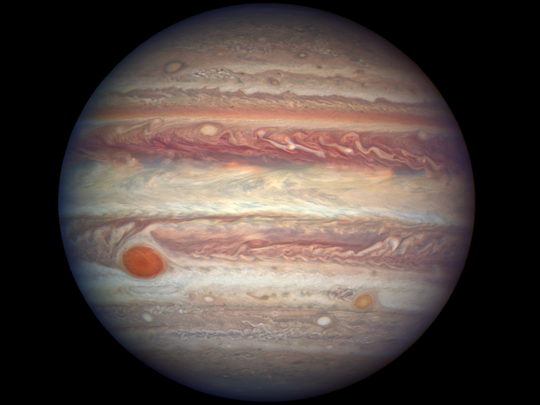 Jupiter: Captured by the Hubble Space Telescope in April.