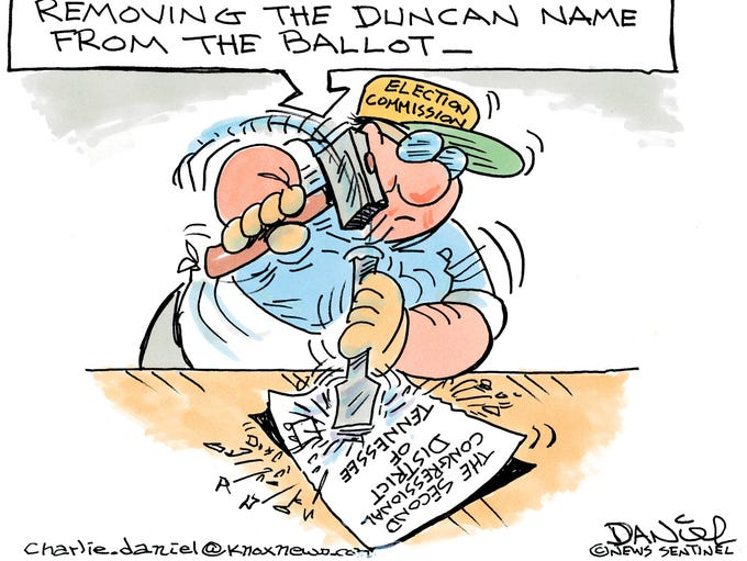 Charlie Daniel cartoon for August 2, 2017