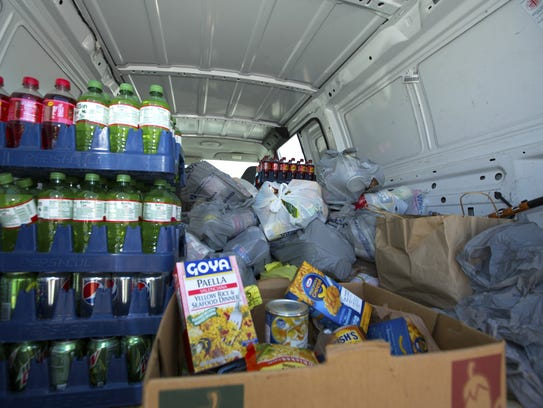 Non-perishable food items collected on Saturday, October