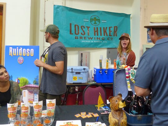 The Lost Hiker was one of the breweries and wineries selling their products and giving shoppers a taste.