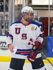 The Under-17 team will feature forward Jack Hughes.