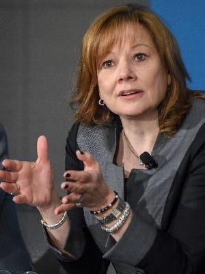 General Motors CEO Mary Barra received $16.2 million in total compensation for 2014, the first year the automaker's executive pay was free of government oversight since the 2009 bankruptcy.