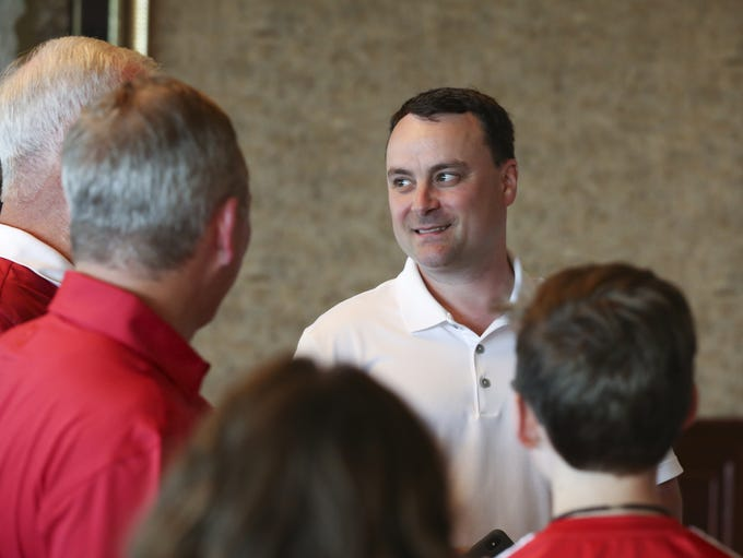 IU Head Basketball Coach Archie Miller greeted admirers