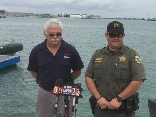 Port Canaveral Harbor Pilot Capt. Doug Brown and Sheriff's Deputy Taner Primmer are credited with averting a tragedy at Port Canaveral on March 11.