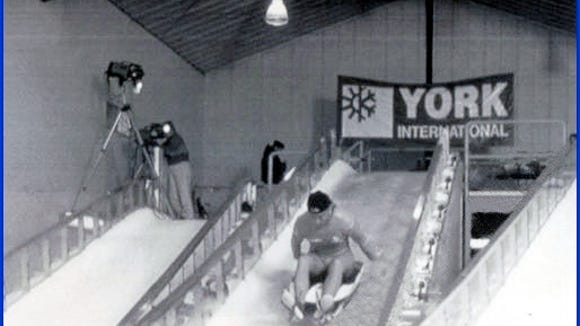 York International Luge Training Complex in Lake Placid NY shortly after it opened in 1992 (From S. H. Smith Collections)