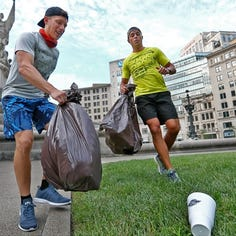 Plogging? You know, when you jog and pick up litter at the same time