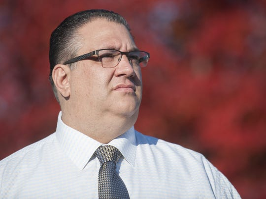 Vineland mayor-elect Anthony Fanucci stands in Pagliughi