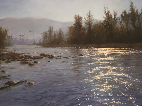"""Sun River"" is artist Brooke Wetzel's first piece in The Russell auction and is expected to fetch between $2,800 to $3,600."