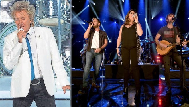 Rod Stewart and Lady Antebellum were among the concerts in the first year of the Denny Sanford Premier Center.