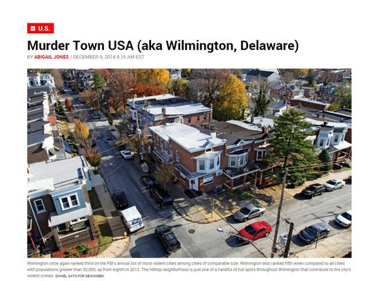 "Newsweek's ""Murder Town USA"" headline from December."