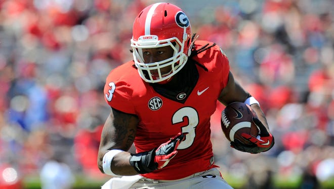 Georgia's Todd Gurley is one of two running backs on the USA TODAY Sports preseason All-America college football team.