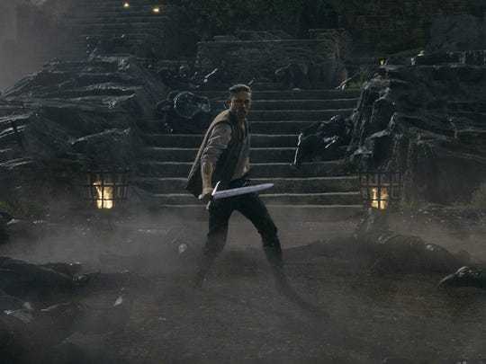 Charlie Hunnam in a scene from the fantasy action adventure