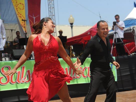 Seana-Marie Sesma dances with Lovie Hernandez during