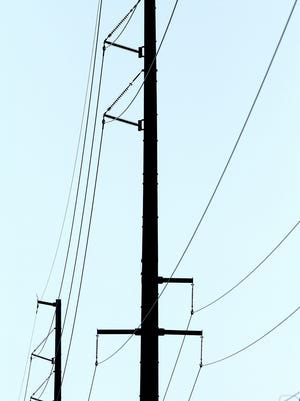 Large power poles line M-59 in Hartland Twp., shown in April of 2010.