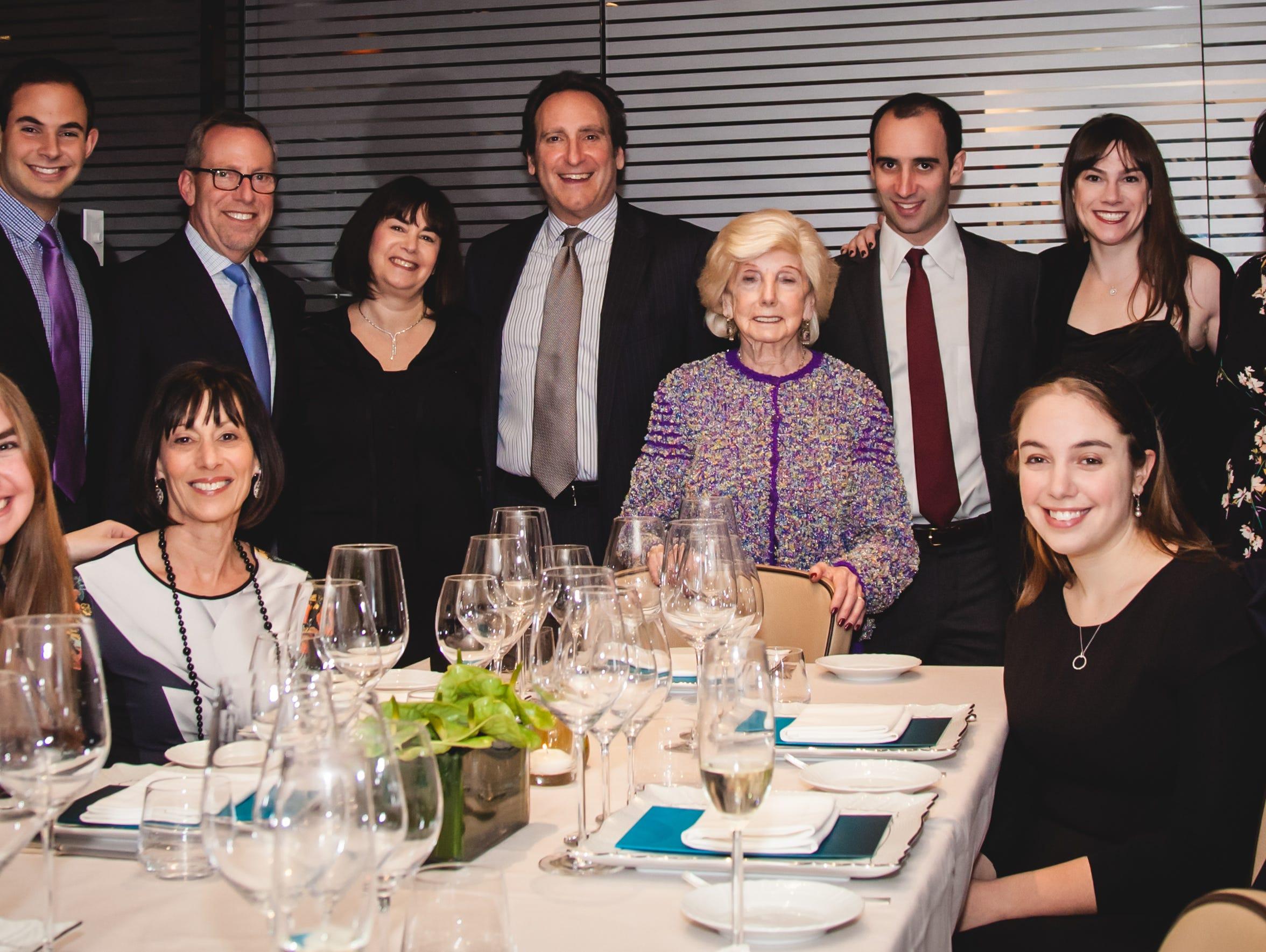 A Sass family gathering with Paul Sass' wife, Bernice
