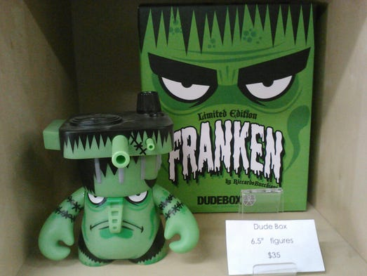 """<p>""""Franken"""" by Riccardo Bucchioni is priced at $35 at Lulubell Toy Bodega in Mesa. It's priced at $20 online.</p>"""
