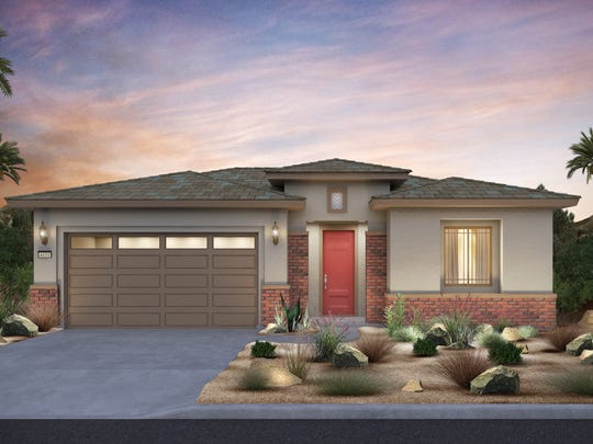 Del Webb Rancho Mirage is set to start sales in the spring. Pictured, a rendering of a home model planned for the development.