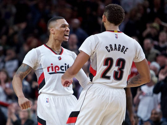Portland Trail Blazers guards Damian Lillard and Allen