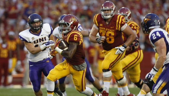 Iowa State running back Tyler Brown finds some running room against Northern Iowa Saturday, Sept. 5, 2015, at Jack Trice Stadium in Ames.