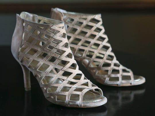 """""""He did really good,"""" laughed stylemaker Kimberly Hunter about the shoes her husband Andy gave as a Christmas gift."""