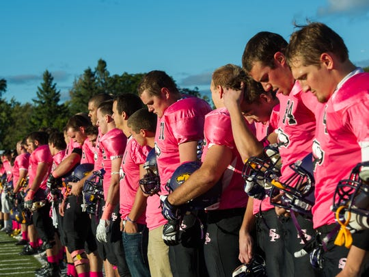 The University of Wisconsin-Stevens Point football team will wear pink jerseys as part of the annual Pink Game/Spud Bowl on Sept. 19.