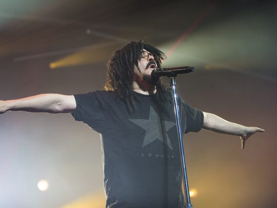 Counting Crows front man Adam Duritz performs at Ak-Chin Pavilion in Phoenix, Ariz. August 2, 2017.
