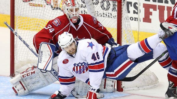 Brayden Irwin always found a way to get to the front of the net and create offense with the Amerks last season. This season he is playing with ECHL Elmira.