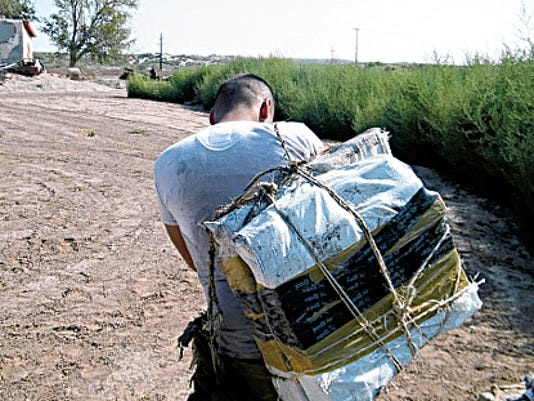 One of four suspects arrested in a marijuana smuggling attempt near Clint.   Courtesy U.S. Border Patrol