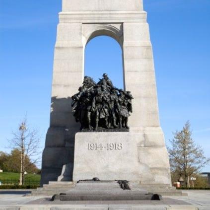The National War Memorial, Parliament grounds, Ottawa,