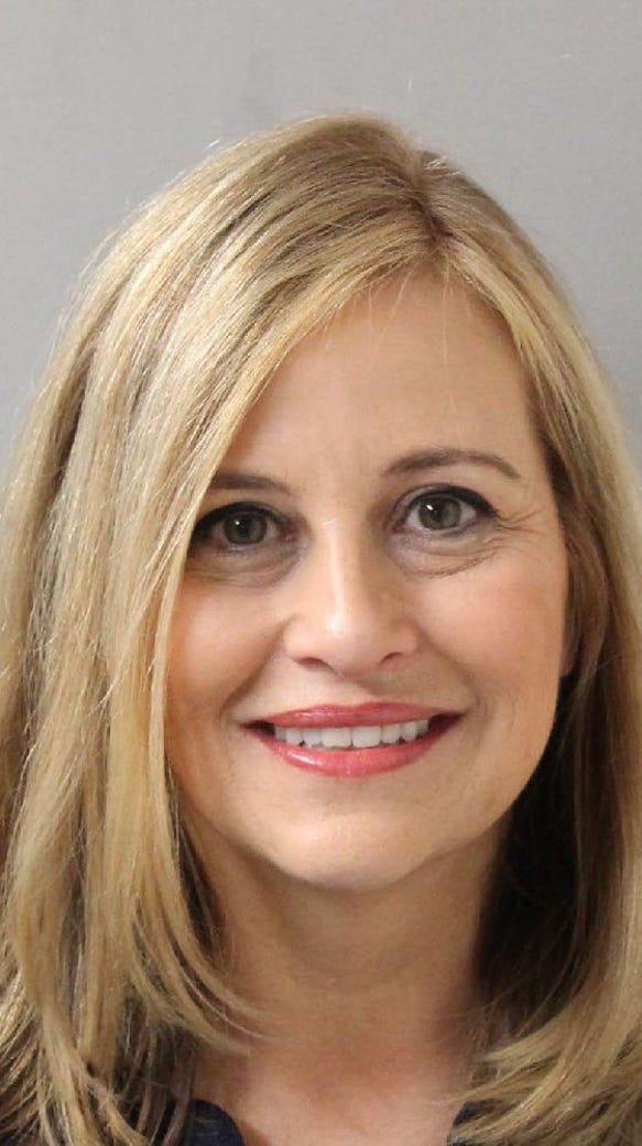 A booking photograph for Megan Barry, the former Nashville