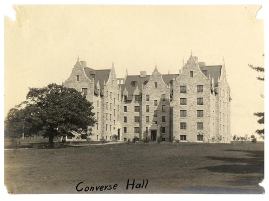 Historic photo of Converse Hall at the University of Vermont.