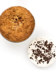Apple Crumb and Chocolate Cream Pie from McCrumbs in