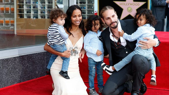 Adorable alert! Zoe Saldana brings her three toddlers to ...