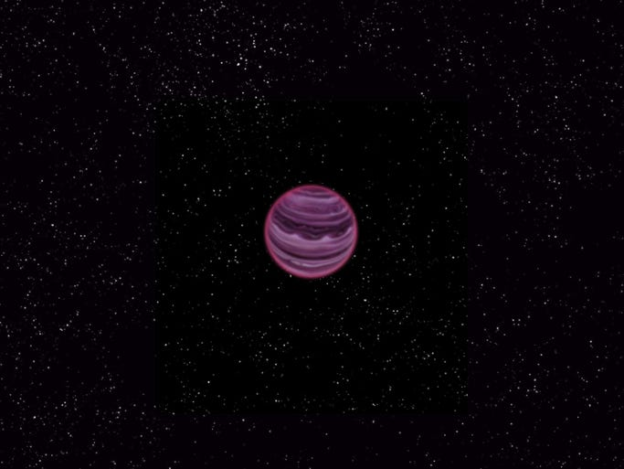 This image obtained courtesy of MPIA / V. Ch. Quetz, shows an artist's conception of the planet PSO J318.5-22  in the constellation of Capricornus. Astronomers say they have found a lonely planet outside the solar system floating alone in space and not orbiting a star.  The gaseous exoplanet, dubbed PSO J318.5-22, is just 80 light years from Earth and has a mass only six times that of Jupiter.