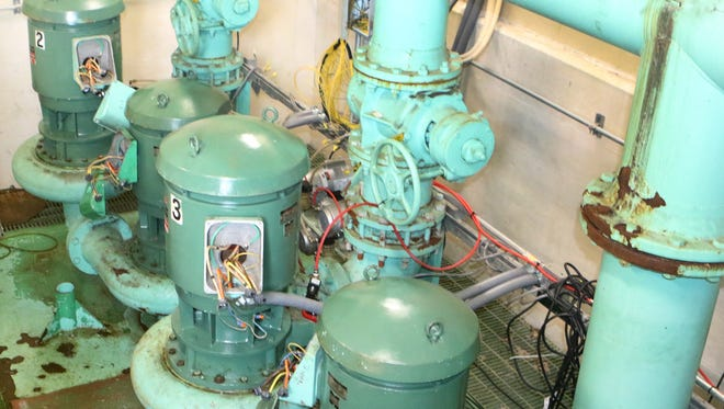 All six pumps housed in Pump Station #7 in Dover were submerged during a sewage leak and rendered inoperable.