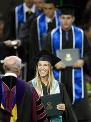 Kristy Marie Peterson was among the graduates on Sunday