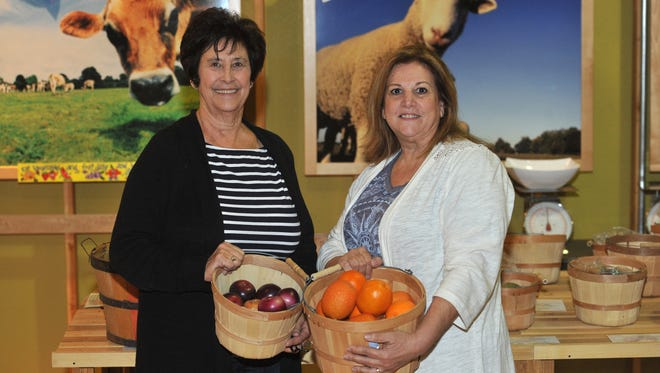 AgVentures! Learning Center volunteers Rachel Smith and Janet Correia on Tuesday, March 8, 2016.