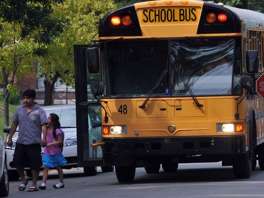 School bus pick up in Richmond
