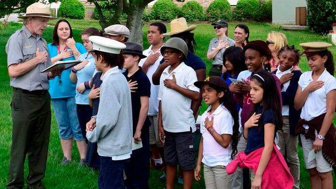 Fifth graders visit the Eisenhower Farm in Gettysburg. The National Park Service is offering new educational programs at the site for 2016.